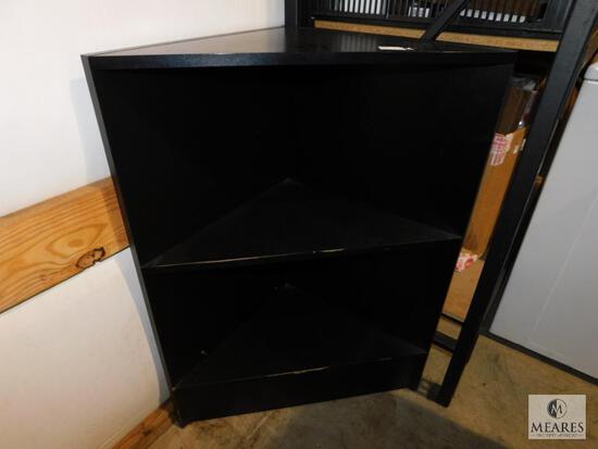 Black Corner Shelf Display Cabinet for Retail