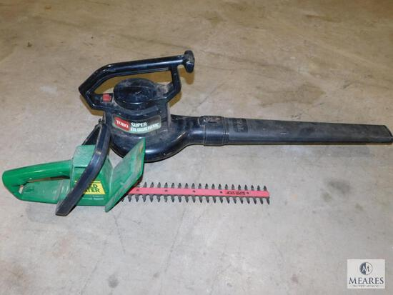 Lot electric Toro Super Blower Vac & Weed Eater Hedge Trimmers