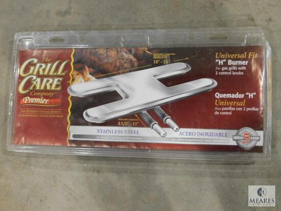 """New Stainless Steel Grill """"H"""" Burner Universal Fit"""