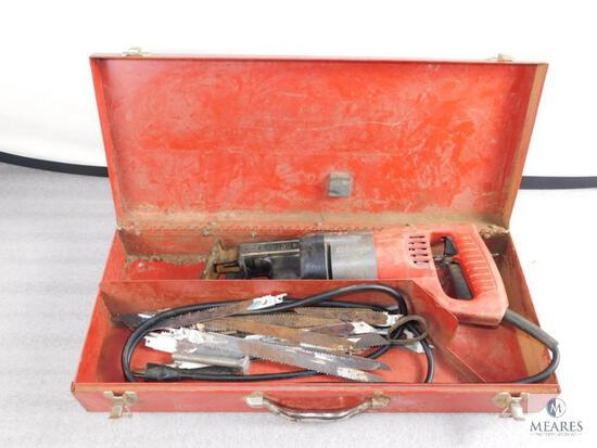 Milwaukee Sawzall Power Tool #6508 w/ Case and blades