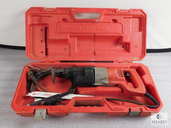 Milwaukee Sawzall Power Tool #6509-2 w/ Case and blades