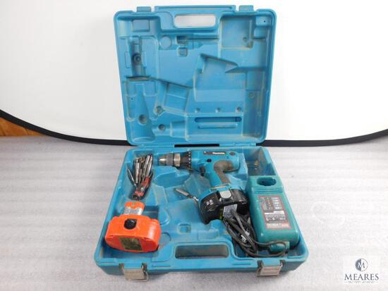 Makita 6347D 18 Volt Drill with Case, Charger, 2 Batteries, and Bits
