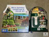 Lot Micro Sprinkler Set & 50' Coil Water Hose