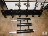 Lot of 2 Fishing Rod Holders - One Holds 6 and other holds 3 (homemade)