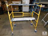 Metaltech 500 lbs Capacity Small Folding Scaffold with 2 Walkboards