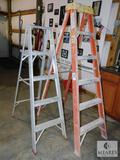 Lot of 2 A-Frame Ladders Werner 6' and Montgomery Ward 4'