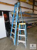 Lot of 2 Werner A-Frame Ladders 8' & 4'