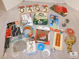 Lot Household Supplies: Tape, Epoxy, Hooks, Zip Ties, Leather Repair Kit, and more