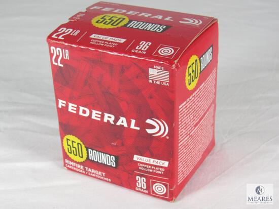 550 Rounds Federal .22 LR Ammo 36 Grain Rimfire Target Cartridges