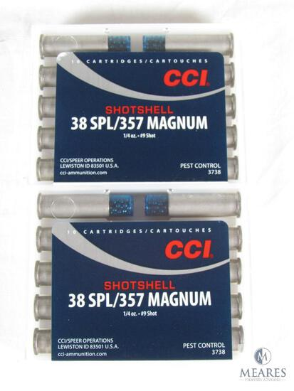 20 Rounds CCI .38 Special / .357 Magnum Shotshell Ammo 1/4 oz #9 Shot