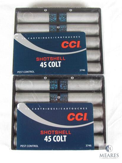 20 Rounds CCI .45 Colt Shotshell Ammo 1/3 oz #9 Shot