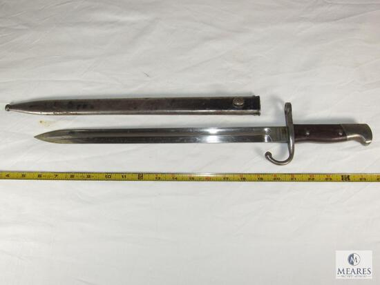 Argentina M1909/47 Bayonet with matching serial number Scabbard