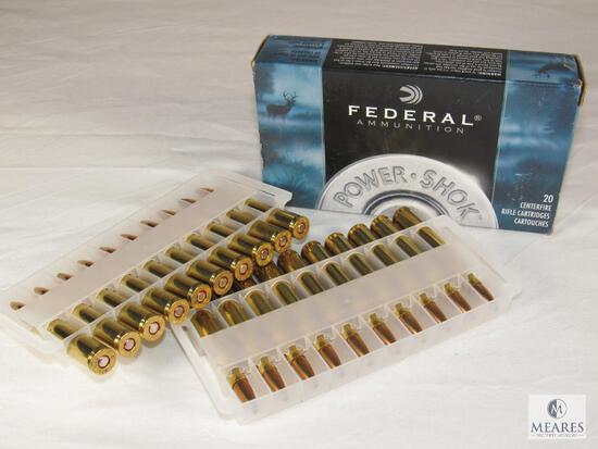 20 Rounds Federal Power-Shok .270 WIN Ammo 130 Grain Soft Point