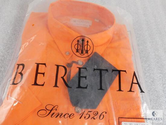 New Beretta men's TM Shooting Shirt L/S Size M Medium Orange