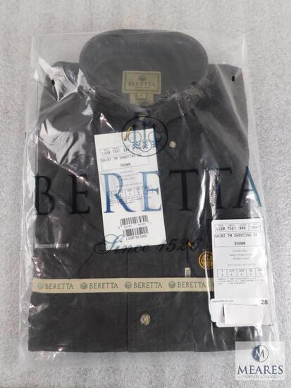 New Beretta men's Shirt TM Shooting SS Brown Size S Small