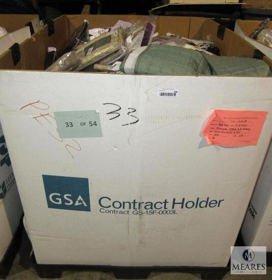 Pallet Box of New Overstock & Returns - Contains Curtains, Valances, and or Bed Linens