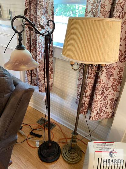 Lot of Two Floor Lamps