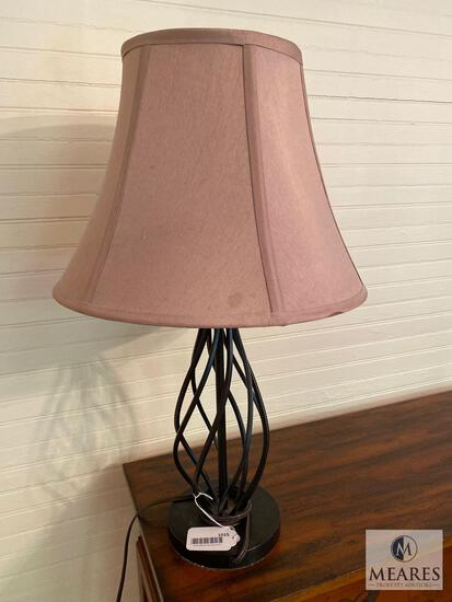Lot of Two Matching Table Lamps with Shades