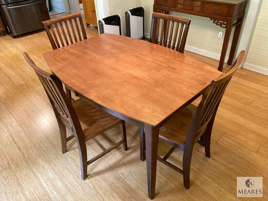Dining Room Table with Four Straight Back Chairs