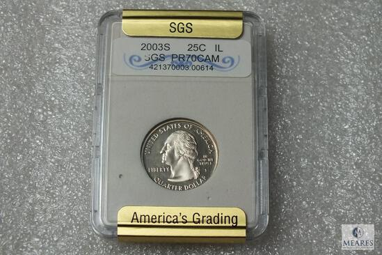 2003-S Washington Statehood Quarter - Illinois