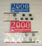 Qty 2 - 2000 Uncirculated Coin Sets - Philadelphia and Denver