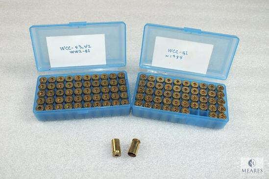 100 Count .45 Auto Unprimed Brass WCC-GI with Plastic Containers