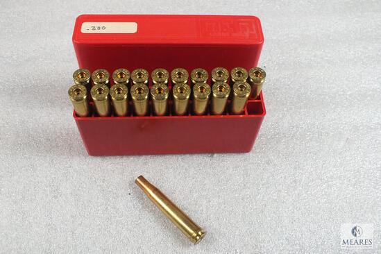 20 count .300 H&H Magnum unprimed Brass with MTM Plastic Container