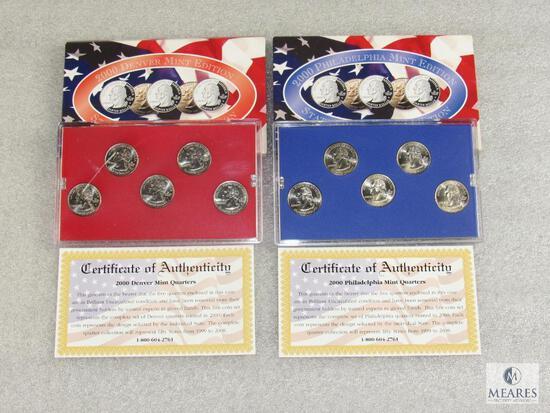 2000 Denver Mint Edition and 2000 Philadelphia Mint Edition Quarters