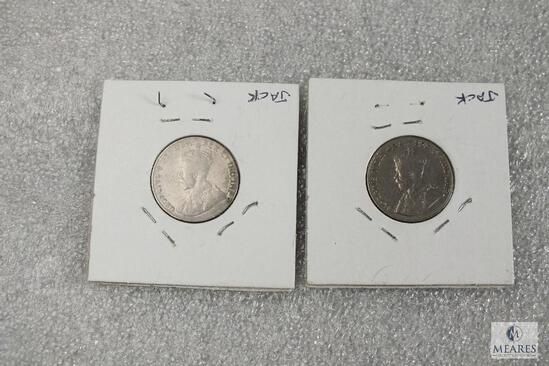 Lot of (2) Canadian Nickels