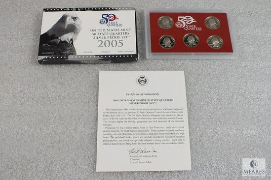 2005 United States Mint 50 State Quarters Silver Proof Set