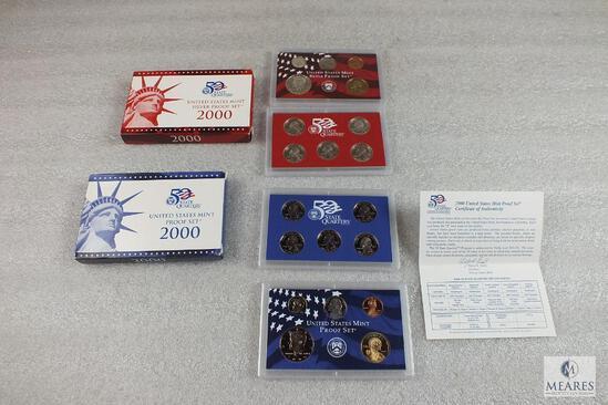 2000 US Mint Proof Set and US Mint Silver Proof Set