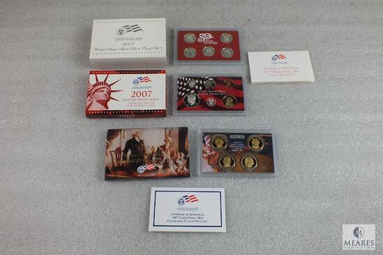 US Mint 2007 Silver Proof Set