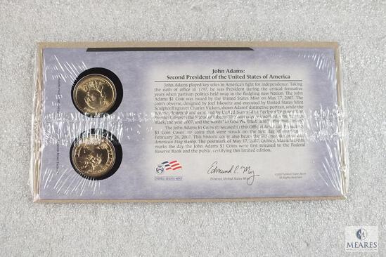 US Mint - John Adams P&D US Presidential Dollar set - UNC