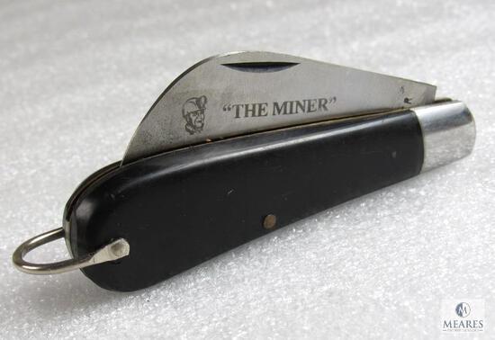 """Vintage Boker """"The Miner"""" 9215M Hawkbill Folder Knife"""