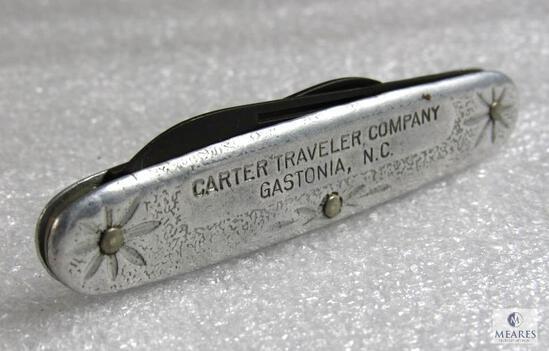 Vintage Schrade NY USA 2 Blade Folding Advertising Knife