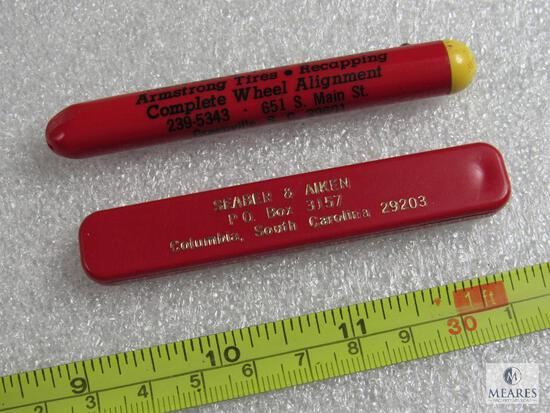 Lot of 2 Vintage Advertising Novelty Knives Greenville & Columbia SC