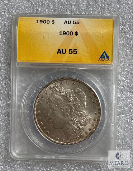 ANACS Graded - 1900-P Morgan Silver dollar - AU55