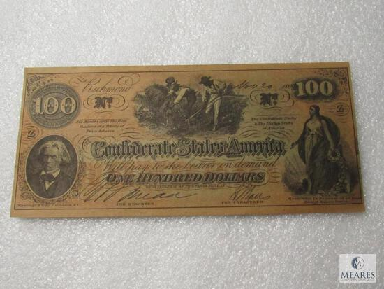November 20, 1864 CSA Civil War $100 note