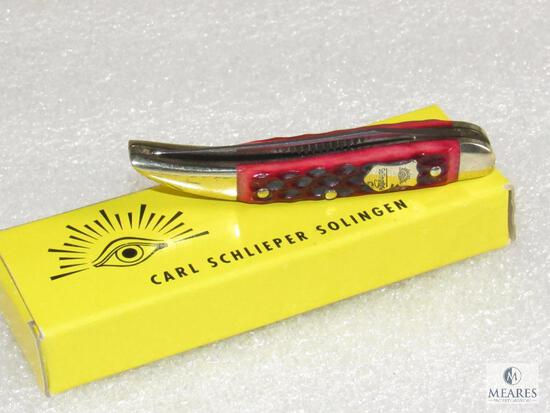 New Carl Schlieper Solingen Germany Eye Brand Baby Texas Toothpick Folder Knife