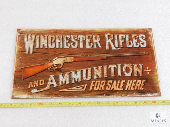 Winchester Rifles and Ammo Tin sign for man cave