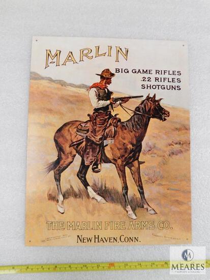 Marlin Firearms Tin sign
