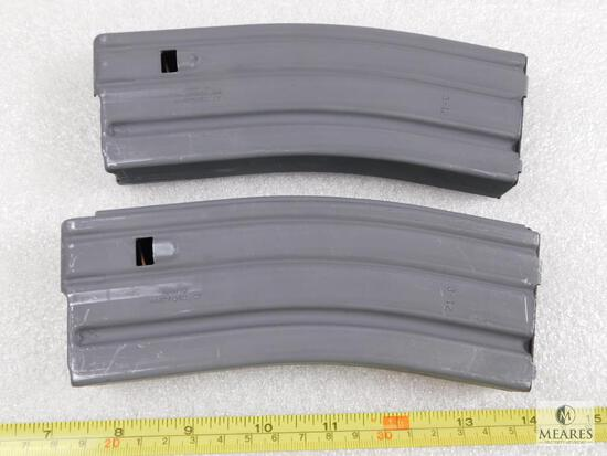 Two 30 round 5.56 AR 15 Rifle mags