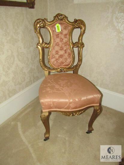 Antique Ladies' Gold-Gilt design parlor chair