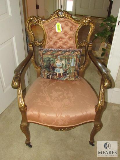 Antique Gold-Gilt design men's parlor chair