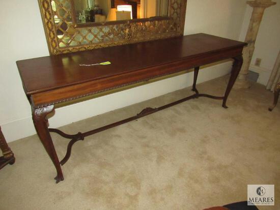 Antique Wood Ball & Clawfoot Buffet Table