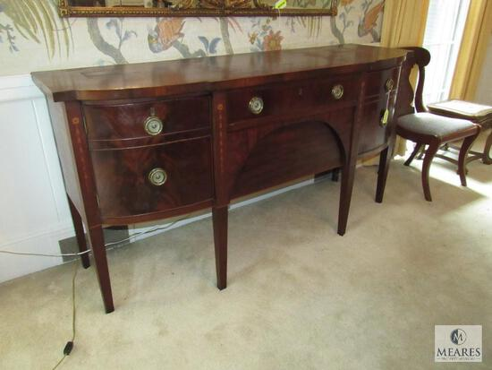 Antique Bow Front Buffet Table