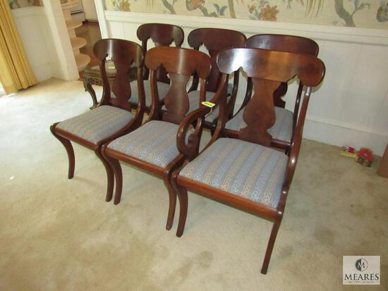 Lot of (6) Mixed Wood Dining Chairs with upholstered seats