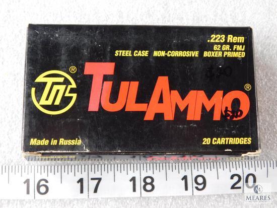 20 Rounds TulAmmo .223 REM 62 Grain FMJ Ammo