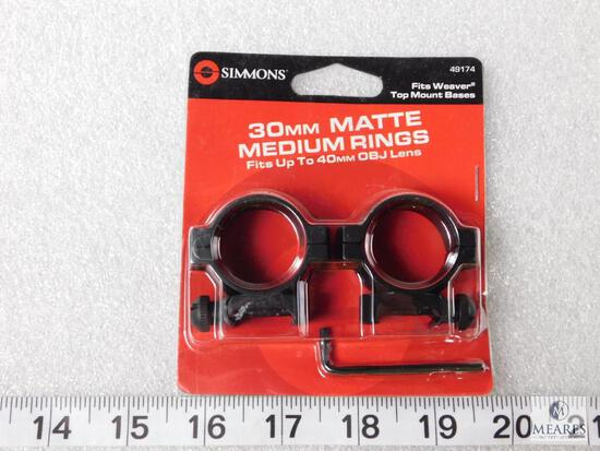 New Simmons 30mm rifle scope rings