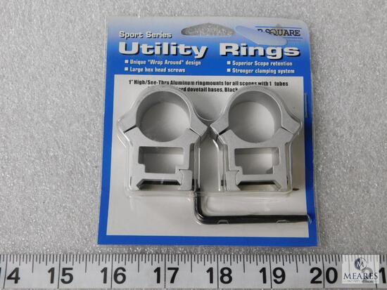 """New silver finish 1"""" high rifle scope rings"""